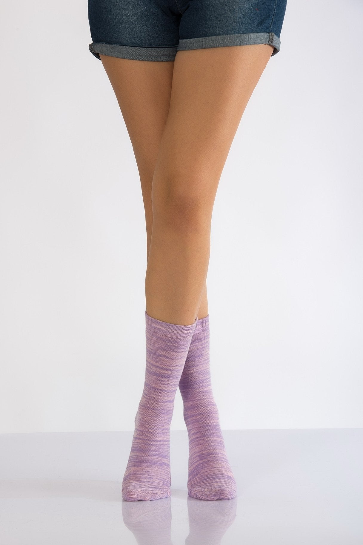 Women's Degrade Pattern Lilac Thermal Socket Socks- 3 Pairs
