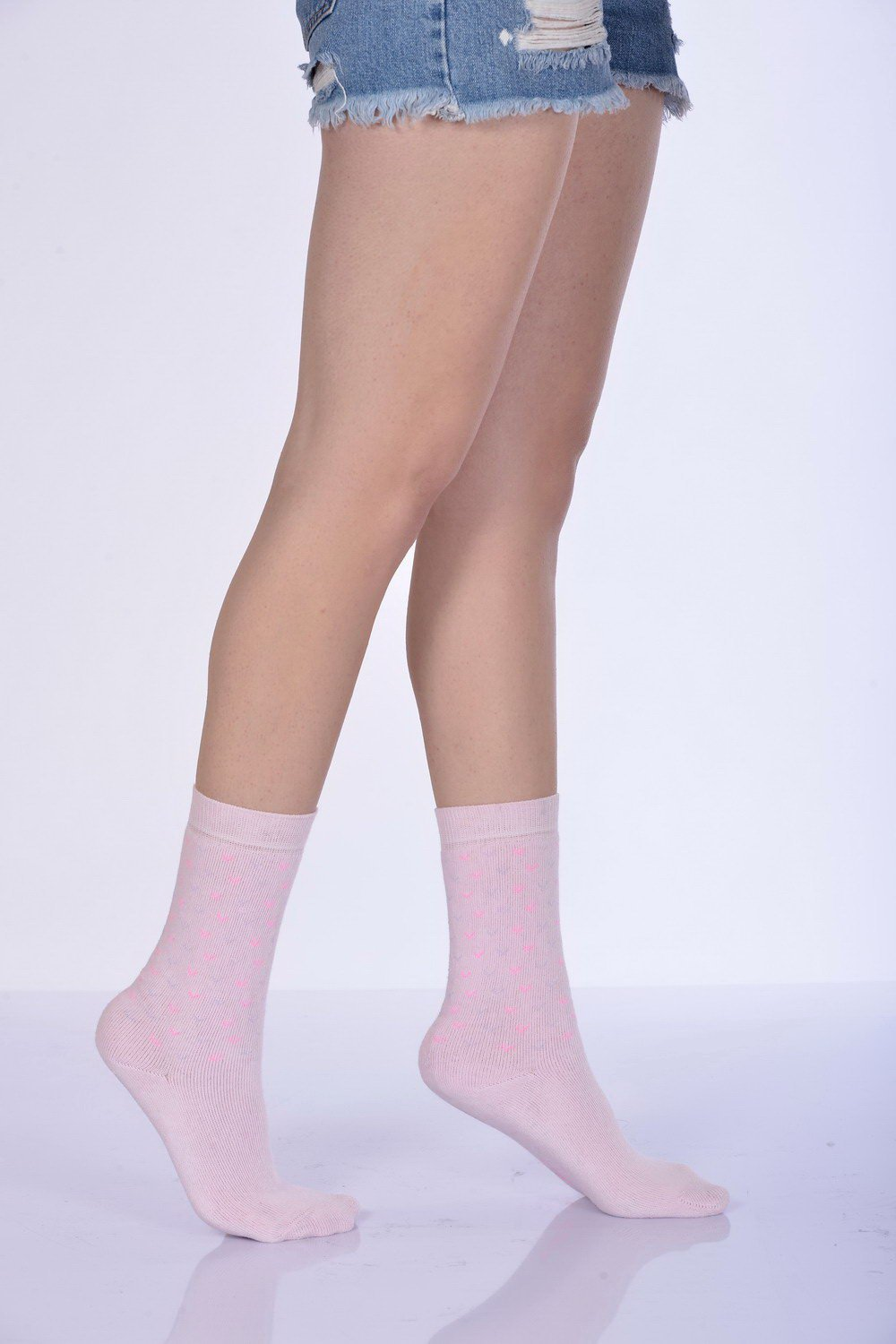 Women's Pink Winter Socket Socks- 3 Pairs