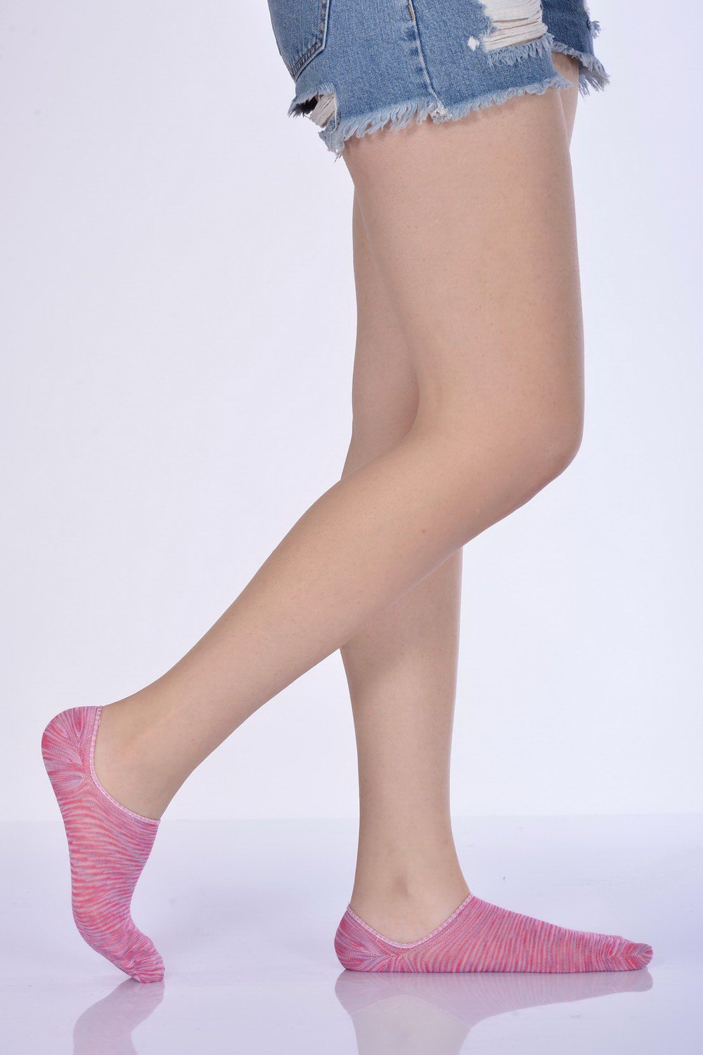 Women's Degrade Pattern Pink Babette Socks- 3 Pairs