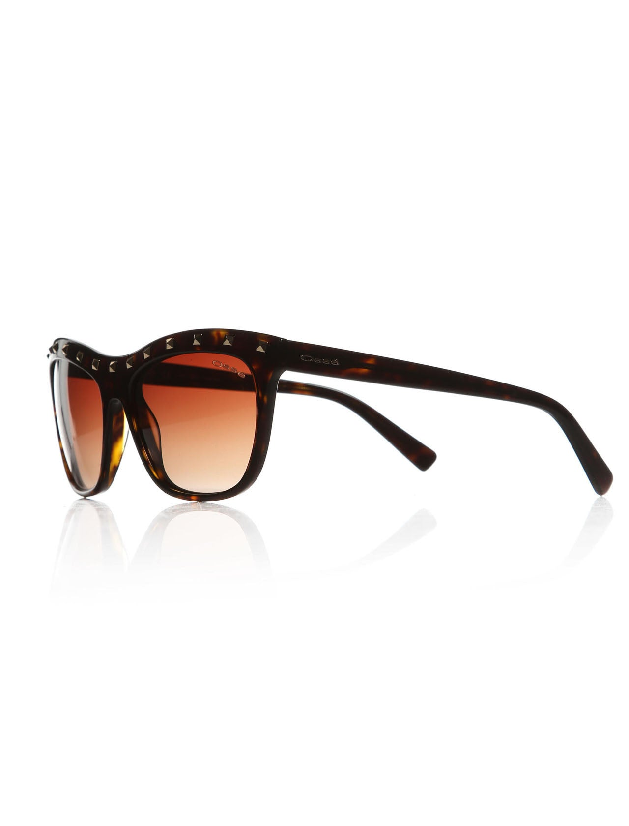 Women's Studded Plastic Frame Sunglasses