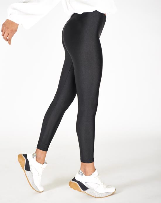 Women's Shiny Black Tights