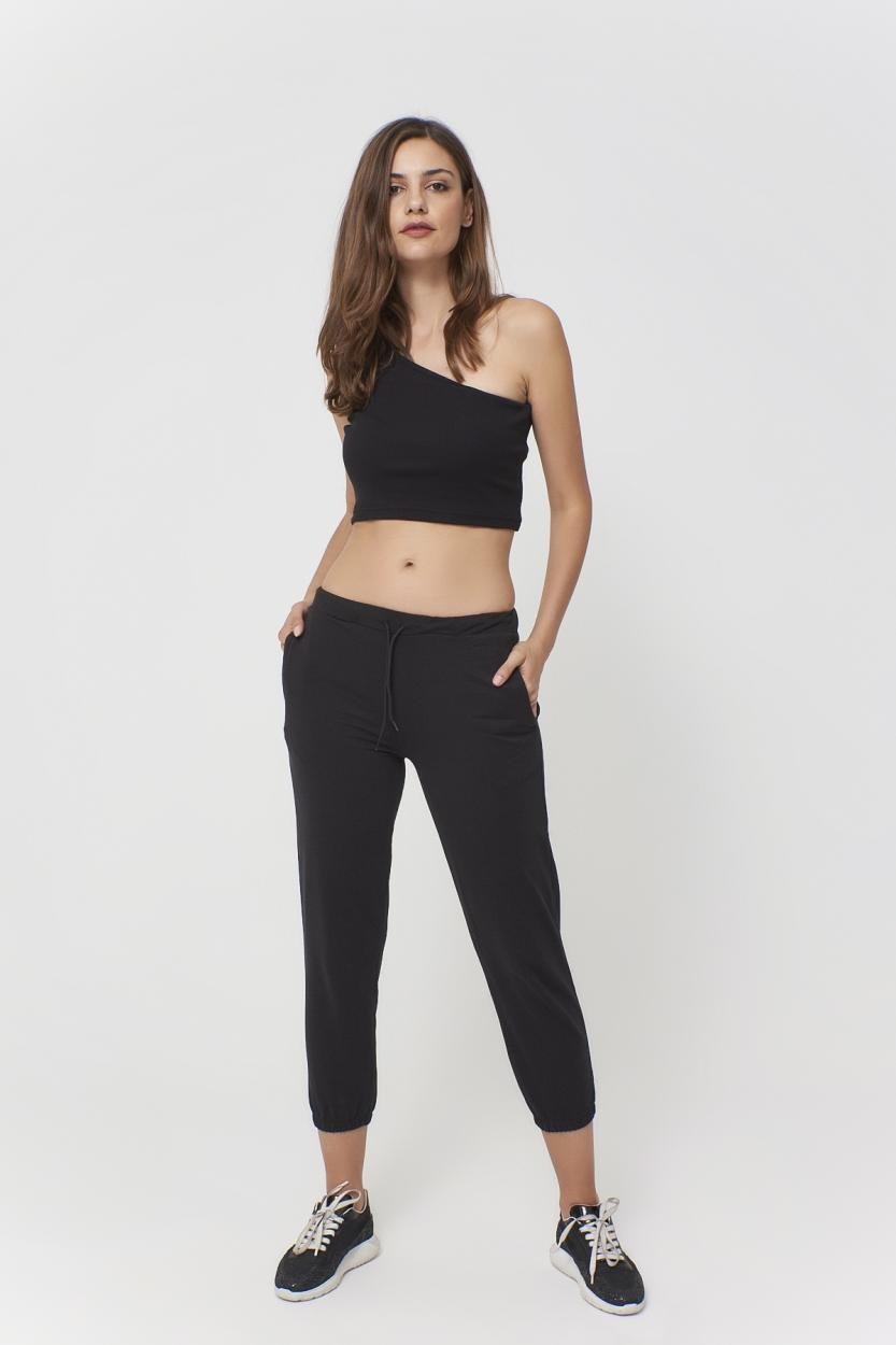 Women's Pocket Black Sport Pants