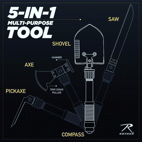 Rothco's 5-in-1 Multi-Purpose Extraction Tool
