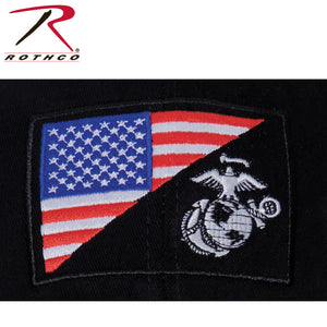 Rothco USMC Globe and Anchor / US Flag Low Pro Cap