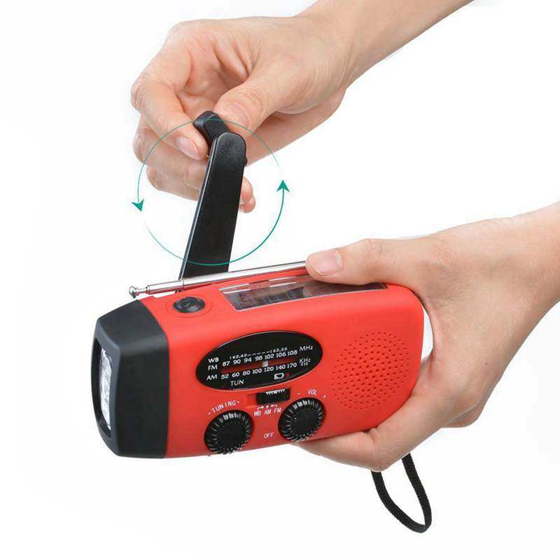 StormPro Emergency Flashlight + Radio with Hand Generator