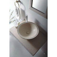 Image of Vanities Stone Vessel Sink Vanity Set