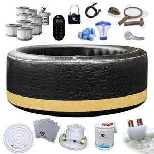 INFLATABLE JACUZZI HOT TUB  HEATER UP TO 40 C OZONATED - IRON-STRENGTH.CO.UK