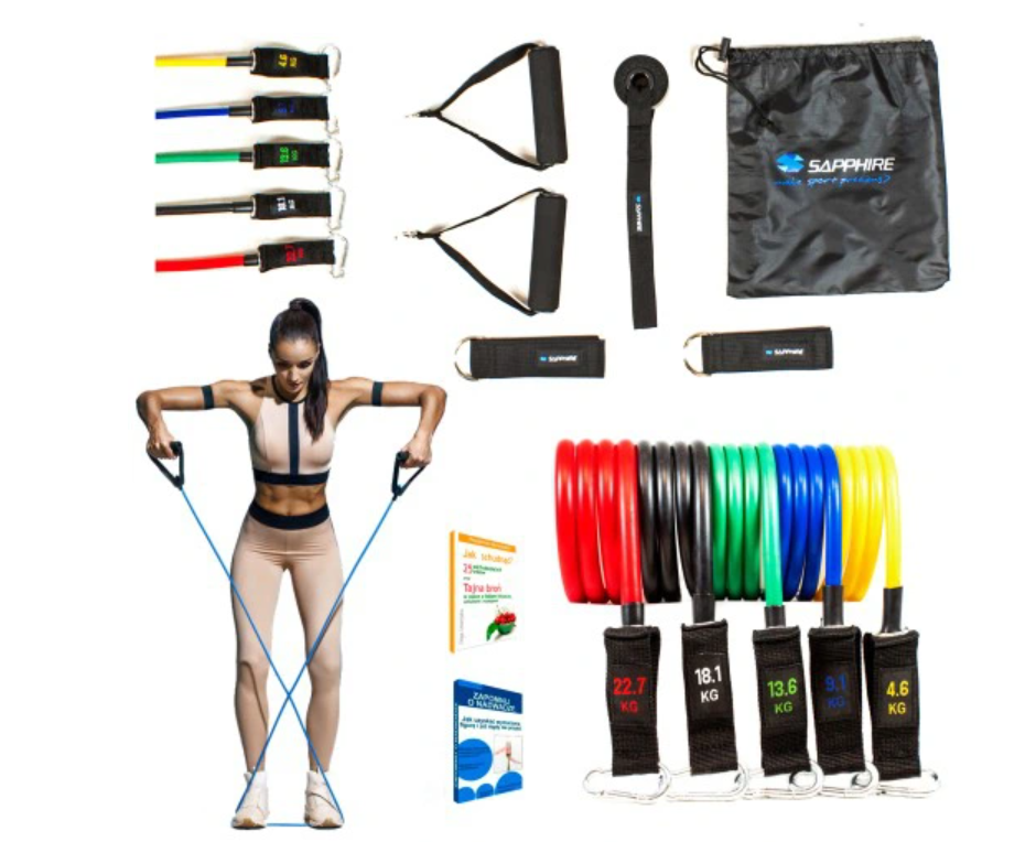Set of 5 Exercise Resistance Bands