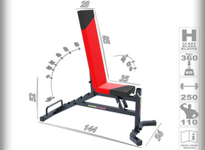 MAGNUS Training Utility Bench with Bevel Down MX2041