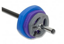 Load image into Gallery viewer, Blue Purple Grey Body Pump Set 20kg HALF PRICE
