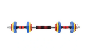 HMS Rubberized Colourful Adjustable Dumbbells 2 x 10kg