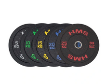 Load image into Gallery viewer, Copy of HMS Black Speckled Olympic Bumper Plate 150kg Set
