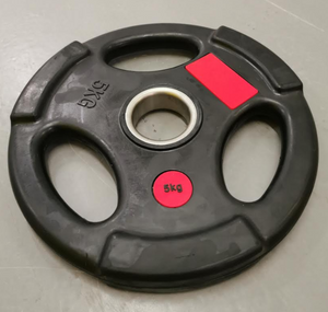 5kg and 10kg Olympic Tri Grip Rubber Coated Plates