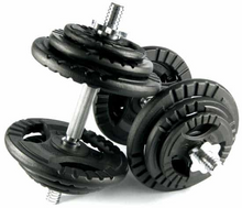 Load image into Gallery viewer, PAIR OF STANARD DUMBBELLS 2X20 KG / 40kg Total weight - IRON-STRENGTH.CO.UK
