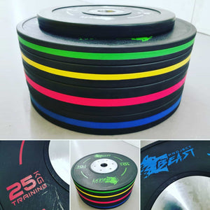 BEAST PROJECT COMPETITION BUMPER PLATES 5 to 25kg - IRON-STRENGTH.CO.UK