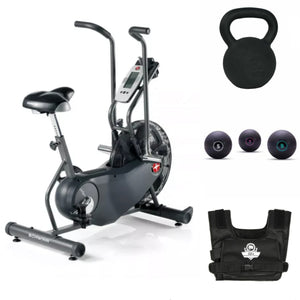 Crossfit Fitness Bundle Air Bike, Slam Ball, Weighted Vest