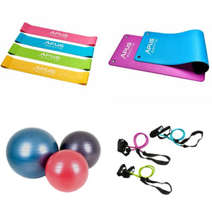 New Year Home exercise Bundle Ball, Yoga Mat, Bands, Tubing