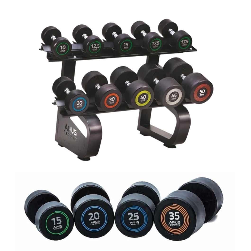 Apus Dumbbell Rack + 5 pairs of Apus Palladium Dumbbells