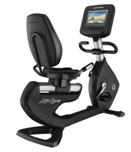 "LIFE FITNESS 95R DISCOVER SI (10""TV) RECUMBENT BIKE USED"