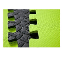 Load image into Gallery viewer, Black and Green Puzzle Floor mats 120cm x 120cm