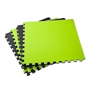 Black and Green Puzzle Floor mats 120cm x 120cm
