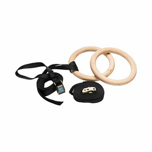 WOODEN GYMNASTIC RINGS - IRON-STRENGTH.CO.UK