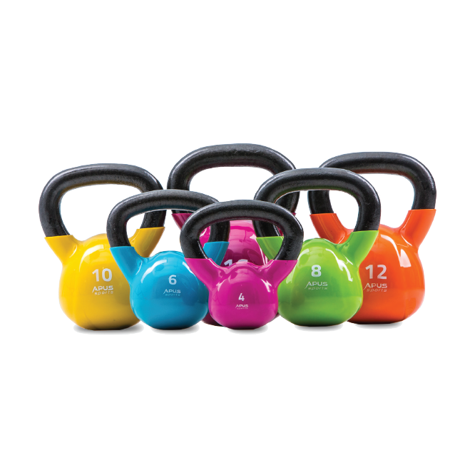 Apus Cast Iron with Vinyl Finish KETTLEBELLS deal 4kg TO 20KG DEAL