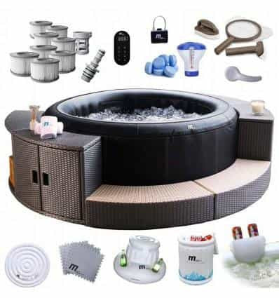 MSPA INFLATABLE JACUZZI HOT TUB SPA WITH FURNITURE IN A 40C SET - IRON-STRENGTH.CO.UK