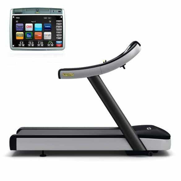 TechnoGym treadmill Run Now Excite+ 700 Visioweb black used - IRON-STRENGTH.CO.UK