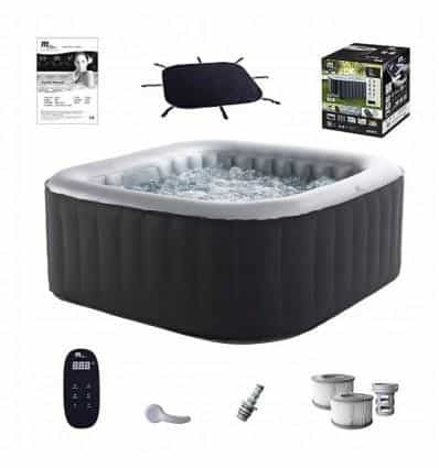 INFLATABLE JACUZZI HOT TUB SPA LARGE GARDEN SWIMMING POOL 6 PERSONS - IRON-STRENGTH.CO.UK