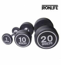 Load image into Gallery viewer, IRON LIFE QUALITY RUBBER DUMBBELLS 1-10kg singles