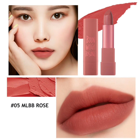 Macqueen-Air Kiss Lipstick #05 MLBB Rose