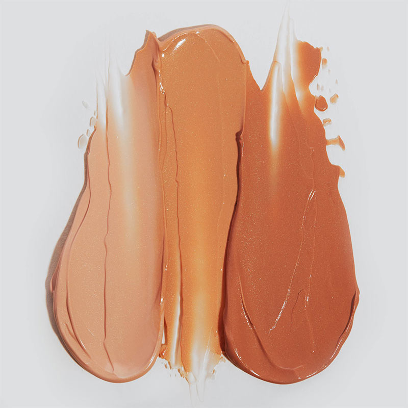 3 swatches of sheer tint spf20