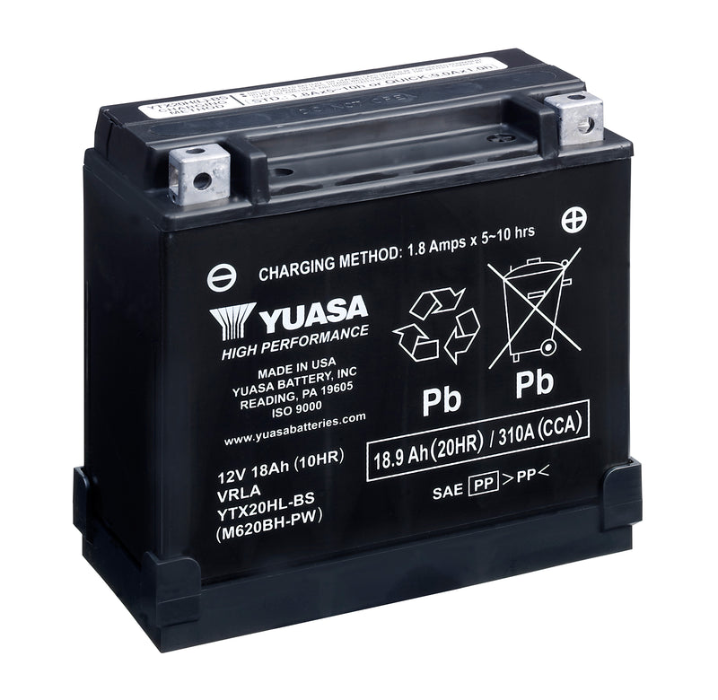 YTX20HL-BS-PW(CP) 12V Yuasa High Performance MF VRLA Battery
