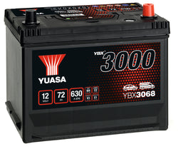 Yuasa YBX3068 SMF Battery - 4 Year Warranty