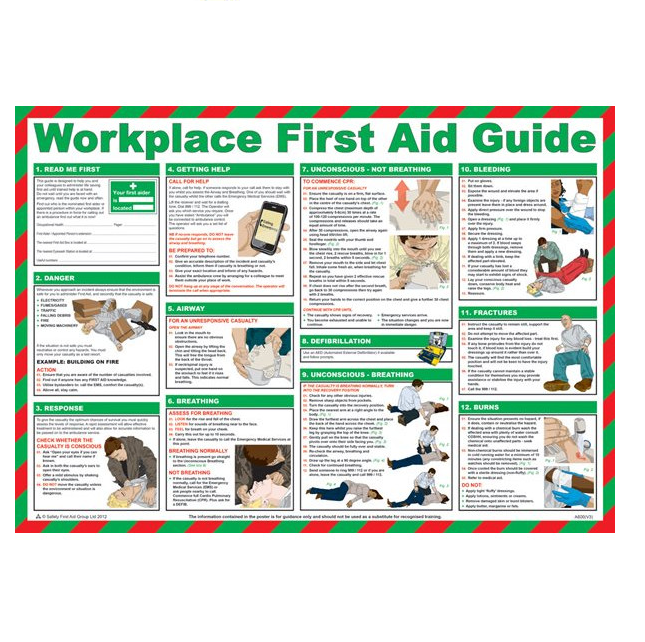 Workplace First Aid Guide 59 x 42 cm