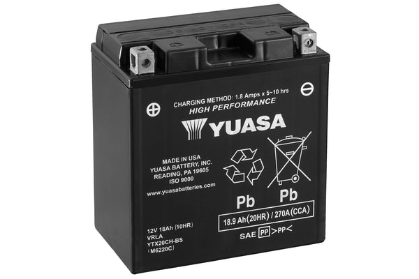 YTX20CH-BS (CP) 12V Yuasa High Performance MF VRLA Battery