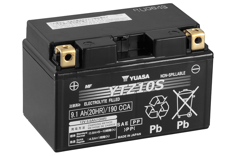 YTZ10S (WC) 12V Yuasa High Performance MF VRLA Battery