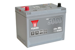 Yuasa YBX5069 Silver High Performance SMF Battery - 5 Year Warranty