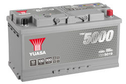 Yuasa YBX5019 Silver High Performance SMF Battery - 5 Year Warranty