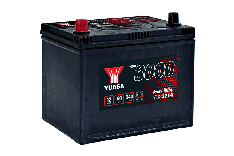 Yuasa YBX3214 SMF Battery - 4 Year Warranty