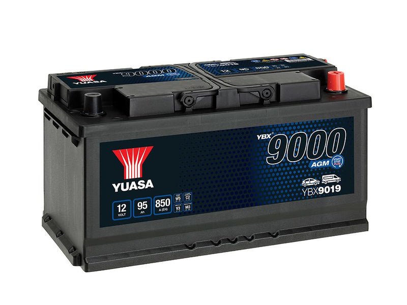 Yuasa YBX9019 AGM Start Stop Plus Battery - 3 Year Warranty
