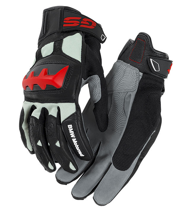 BMW Motorcycle Gloves Rally (Black /Red) Size 9 - 76218395243