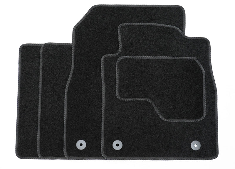 Premium Tailored Black Carpet Car Mats for Ford Fiesta 08>17