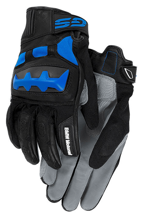 BMW Motorcycle Gloves Rally (Grey/Blue) Size 9
