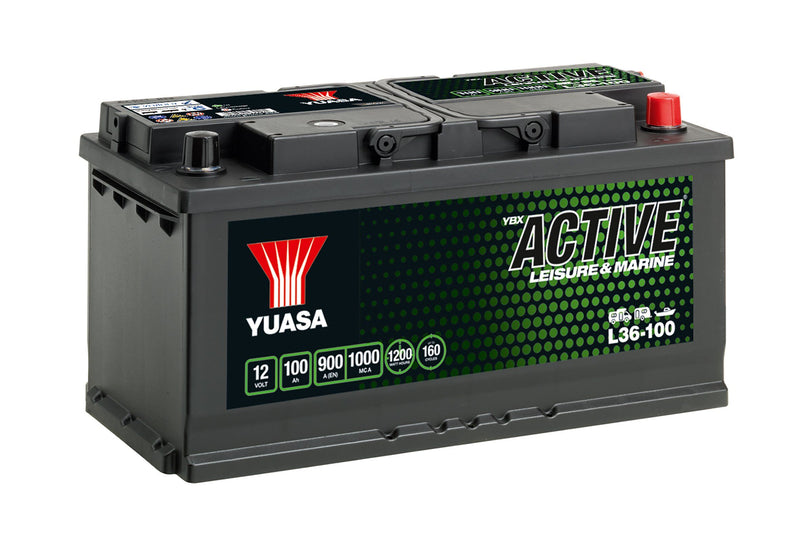 L36-100 Yuasa Active Leisure Battery 12V 100Ah 900A (5470981521561)