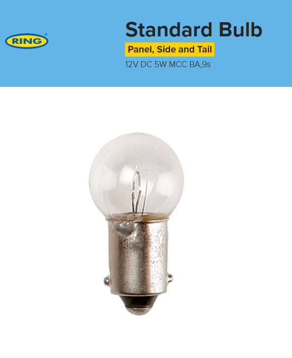 Panel/Side/Stop Tail Bulb (10 Pack) - 12V 5W Mcc Ba9S
