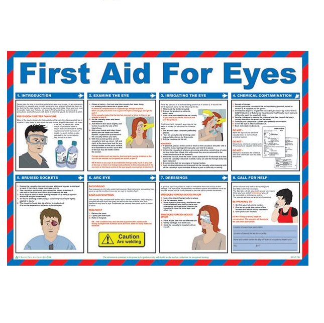 First Aid For Eyes Poster 59 x 42 cm
