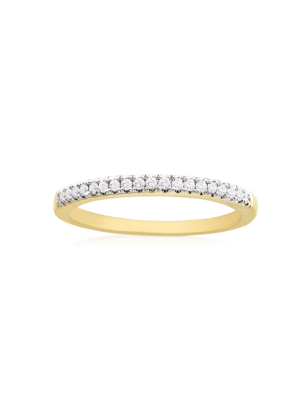 New York 14ct Yellow Gold Round Brilliant Cut with 0.15 CARAT tw of Diamonds