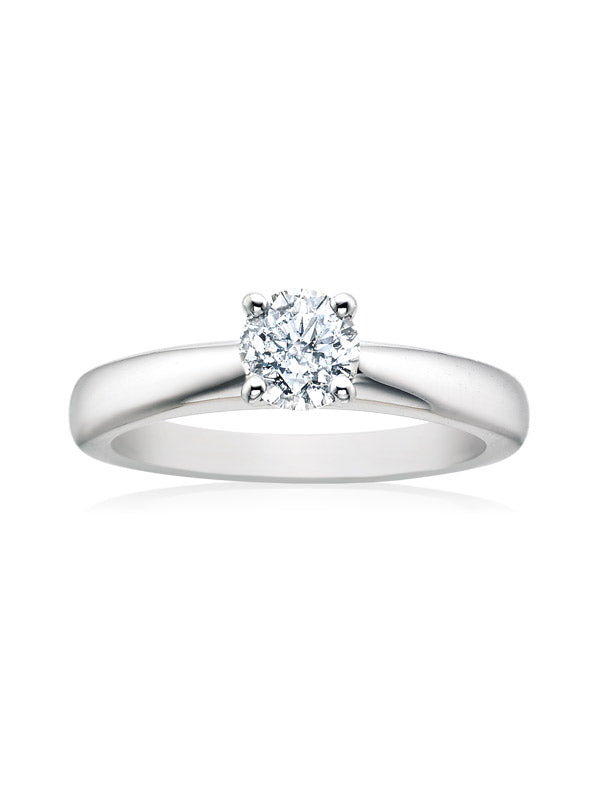 Solitaire 18ct White Gold Round Brilliant Cut with 0.70 CARAT of Diamonds